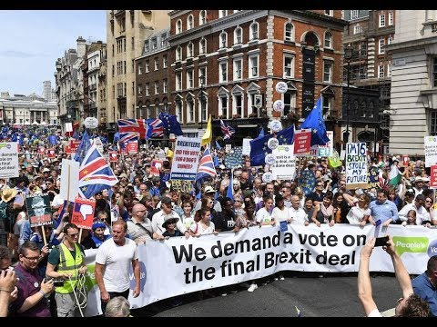Brexit fallout: Over 100,000 march for a Peoples Vote
