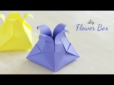 DIY Flower Box | Paper Box | Origami