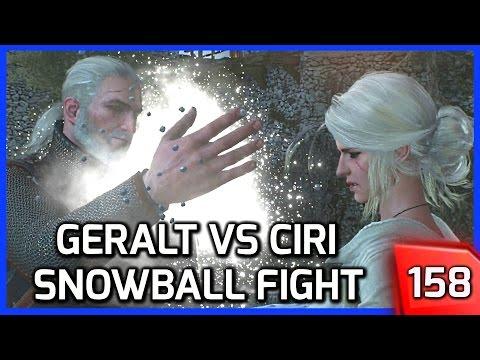 The Witcher 3 â–º Geralt vs. Ciri Snowball Fight (Lifting Ciri