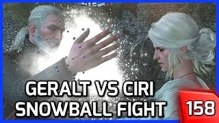 The Witcher 3 ► Geralt vs. Ciri Snowball Fight (Lifting Ciri's Spirits) #158