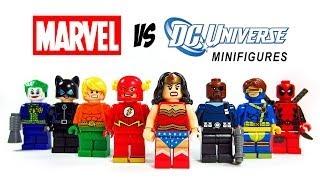LEGO DC vs Marvel Superheroes KnockOff Minfigures Set 2 (Bootleg) Wonder Woman Flash Joker Deadpool