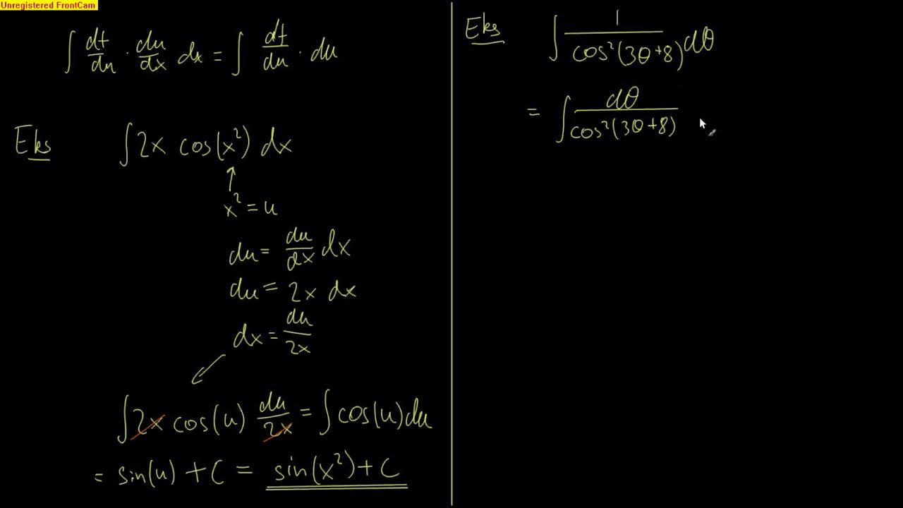 Kalkulus 5.5 - Variabelskifte for ubestemte integraler