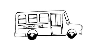 How To Draw a School Bus Easy Step by Step tutorial