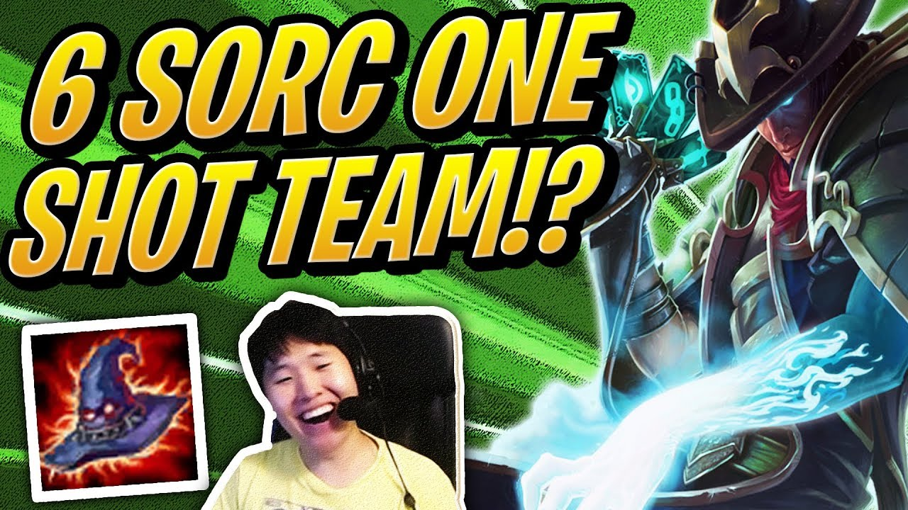 ONE SHOT 6 SORCERERS TEAM!? | Teamfight Tactics | TFT | League of Legends Auto Chess thumbnail