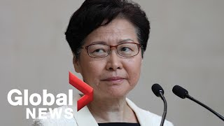 Hong Kong's Carrie Lam speaks amid ongoing protests