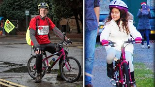 Dad Rides 7-Year-Old Daughter