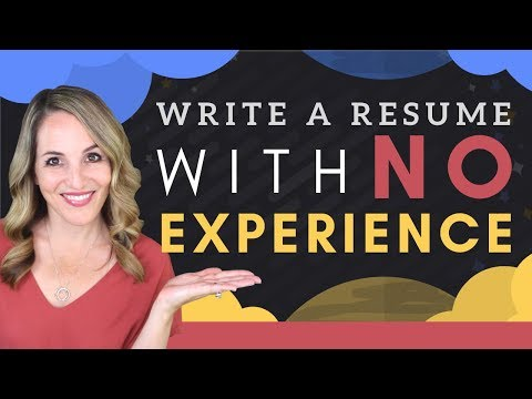 How To Write A Resume With Little Or No Work Experience - Resume Template