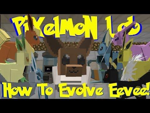 Pixelmon Lab: How To Evolve Eevee Into All Eeveelutions! (Minecraft Pokemon Mod)