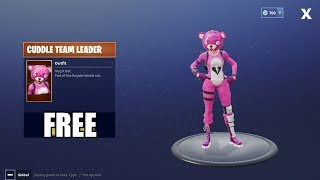 Fortnite Battle Royale - HOW TO GET FREE CUDDLE TEAM LEADER OUTFIT!