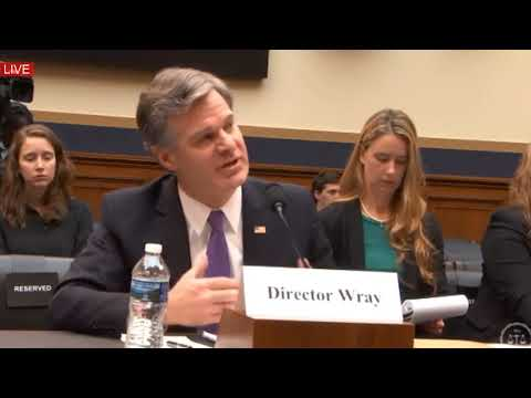 FBI Director Christopher Wray Testifies On President Trump Russia Investigation PART 1 - 12/7/2017