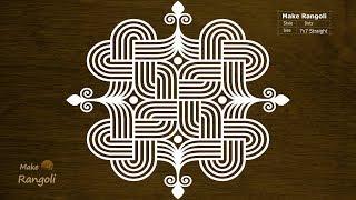 Padi Kolam with 7x7 dots | Margazhi Kolam | Dhanurmasam Muggulu | Make Rangoli