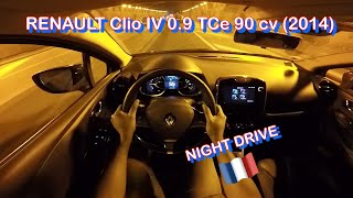 RENAULT Clio IV 0.9 TCe 90 cv (2014) - Test City Drive at Night