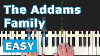 The Addams Family Theme Piano Tutorial Easy Sheet Music Youtube