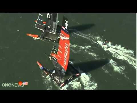 Americas Cup Highlights - Team NZ vs Oracle Race 8 2013