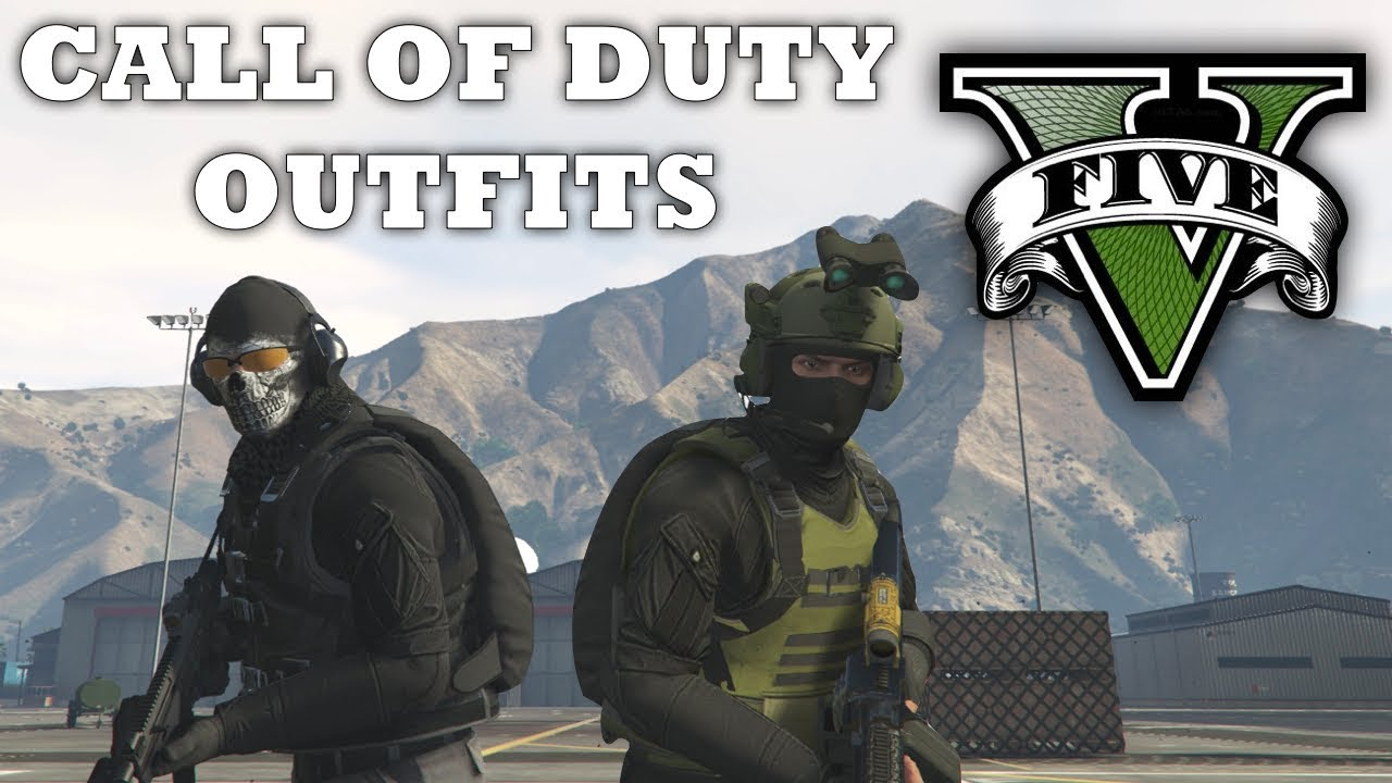 GTA V - Call of Duty Inspired Outfits! New Custom Doomsday Heist Outfits (Ghost u0026 Shadow Company ...
