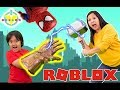 RYAN VS MOMMY in ROBLOX SPIDERMAN SIMULATOR ! Let's Play Roblox with Marvel Superheroes