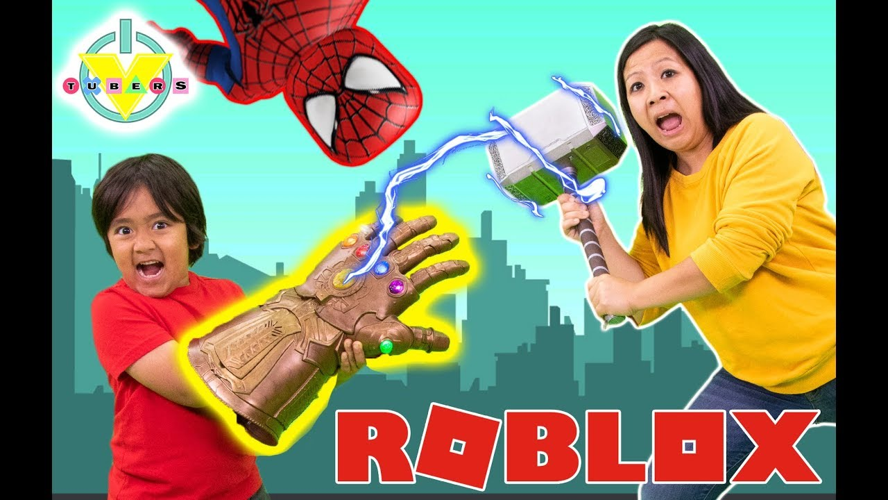 RYAN VS MOMMY in ROBLOX SPIDERMAN SIMULATOR ! Let's Play Roblox with Marvel Superheroes thumbnail