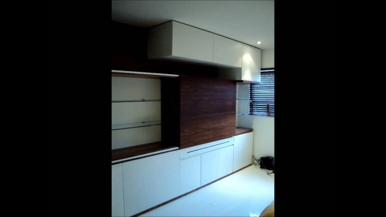 1 mueble de tv puerta corrediza youtube for Mueble para tv con puertas