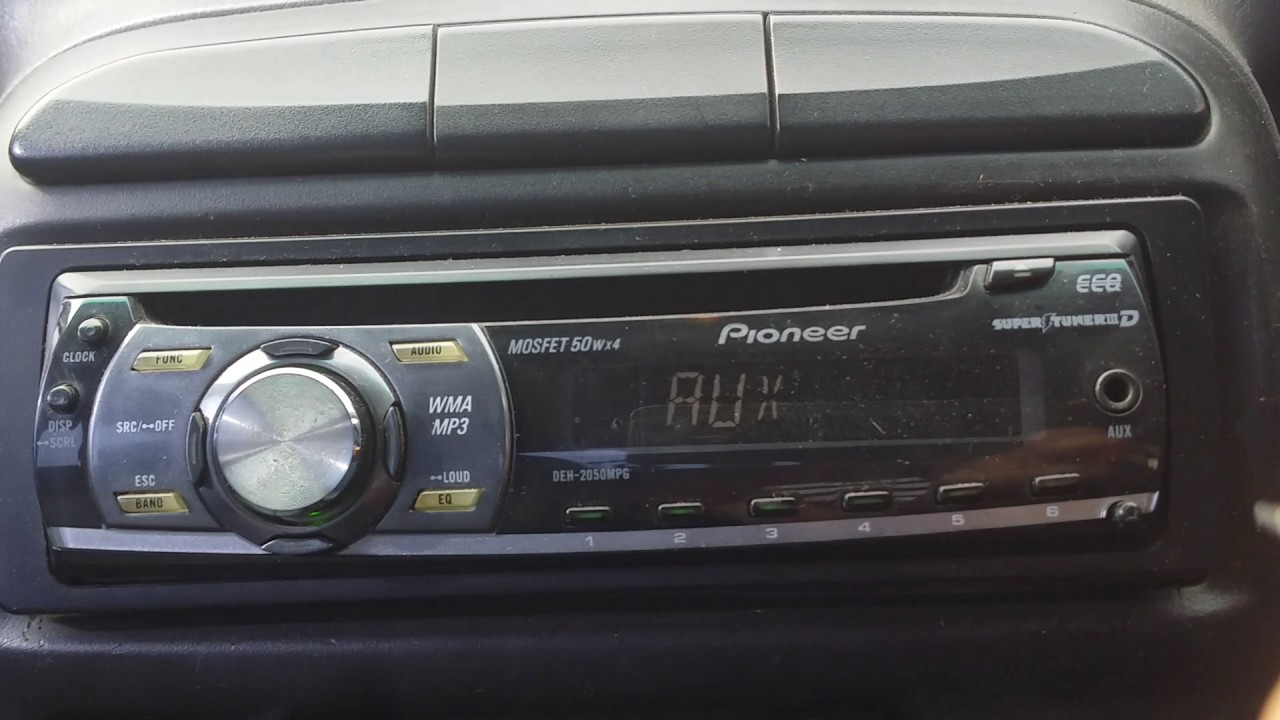 Set the clock in pioneer mosfet 50wx4 in 50 second  YouTube