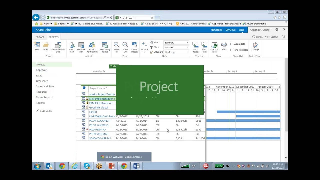 how to create a schedule in microsoft project 2013