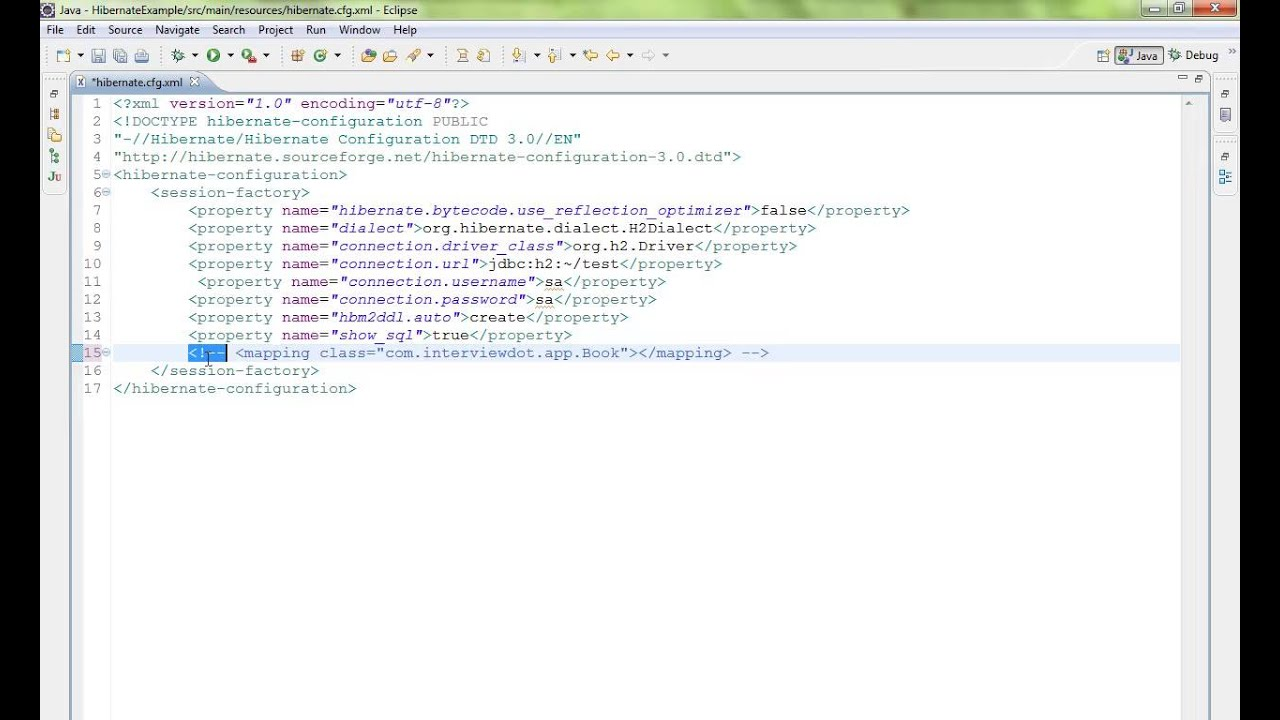 HOW TO COMMENT A LINE IN XML