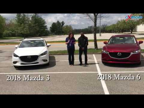 Mazda 3 Vs 6 >> Comparison On A 2018 Mazda 3 And Mazda 6 For Sale At Oxmoor Mazda In Louisville Ky 40222