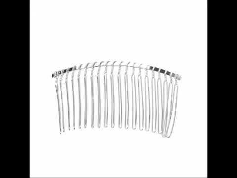Pixnor 7 8cm 20 Teeth Fancy DIY Metal Wire Hair Clip Comb Bridal Wedding Veil Comb Silver