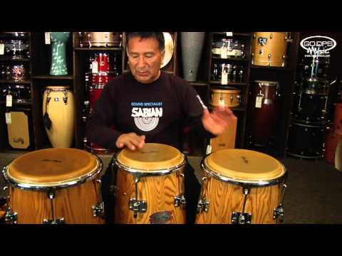 Alex Acuna playing his Signature Congas from Gon Bops