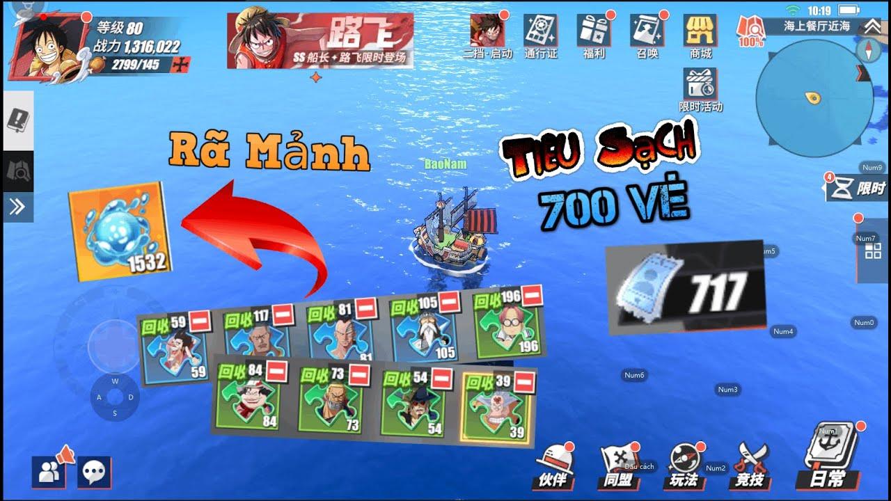 ONE PIECE FIGHTING PATH 2021 TIÊU SẠCH 700 VÉ NÂNG TƯỚNG 6 SAO & RÃ MẢNH TƯỚNG SHOP MỚI :)))