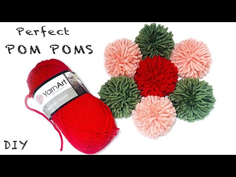 DIY | POM POM - how to make it perfect, easy and quick - maker Tutorial, Craft Basics, Yarn Pom Pom