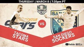 Tacoma Stars vs San Diego Sockers
