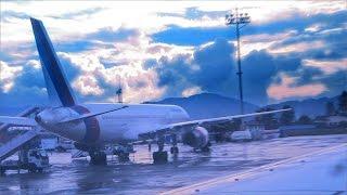Amazing landing at Tribhuvan Airport Kathmandu Nepal