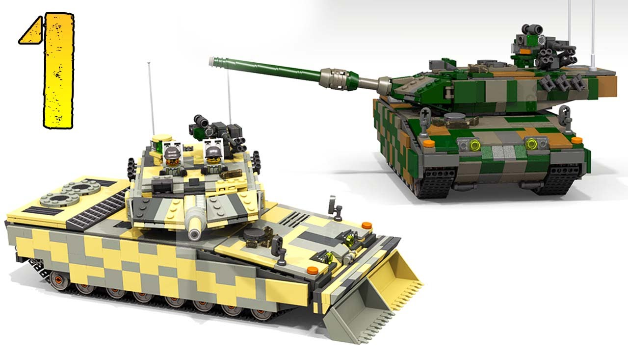 51058cc43662 How To Build Lego LEOPARD 2 A7 (PART 1) - YouTube