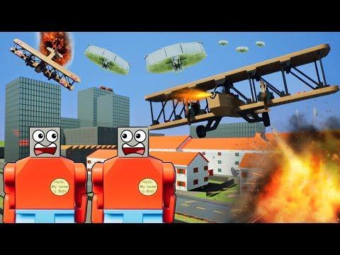 LEGO MILITARY PLANE VS ALIEN UFO BATTLE! - Brick Rigs Gameplay Challenge & Creations - Lego Dogfight