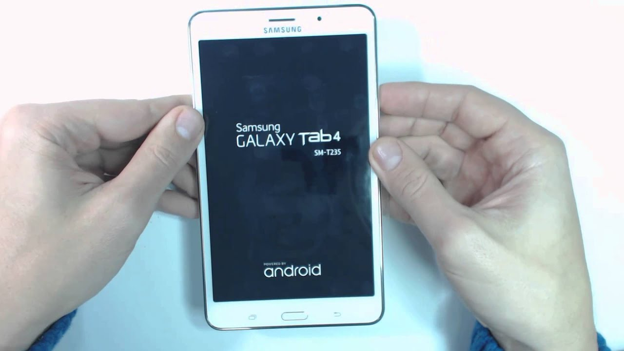 Samsung Galaxy Tab 4 7.0 SM-T235 - How to reset - Como