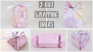 5 Creative Gift Wrapping Ideas | DIY Gift Boxes