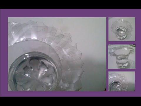 Florero Con Botella De Plastico Reciclaje Youtube