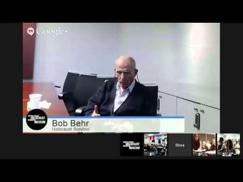 Days of Remembrance: Bob Behr's Survivor Testimony