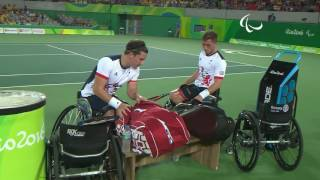 Wheelchair Tennis   KOR v GBR   Men's Doubles Second Round   Rio 2016 Paralympic Games