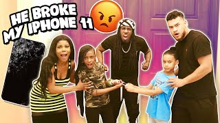 MASON BROKE YAYA'S BRAND NEW iPHONE 11 PRANK