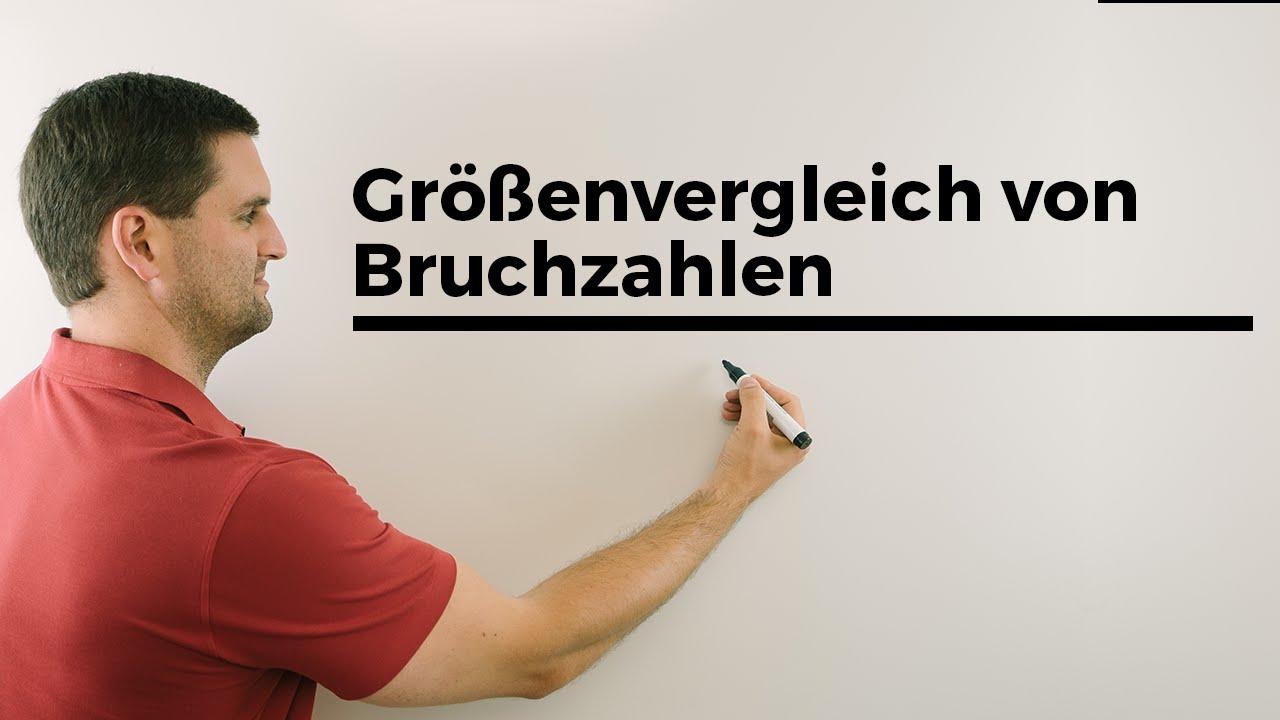 Größenvergleich von Bruchzahlen, Bruchrechnung, Brüche, Mathe by ...