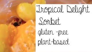 Tropical Delight Sorbet (gluten Free, Plant-based Dessert)