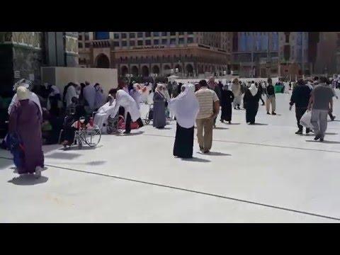رحلة إلى الحرم المكي - أقرب فيديو للكعبة والمسجد الحرام  - مارس 2016