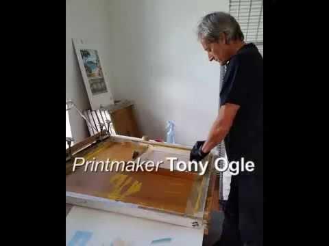 Printmaking - watch NZ artist Tony Ogle at work