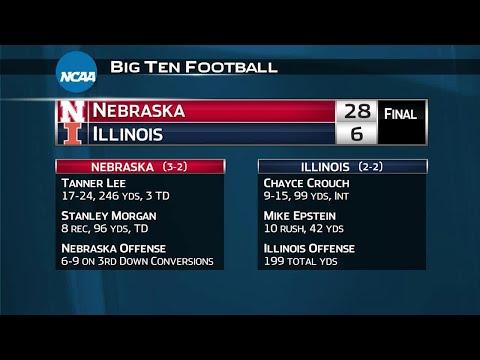 Nebraska at Illinois - Football Highlights