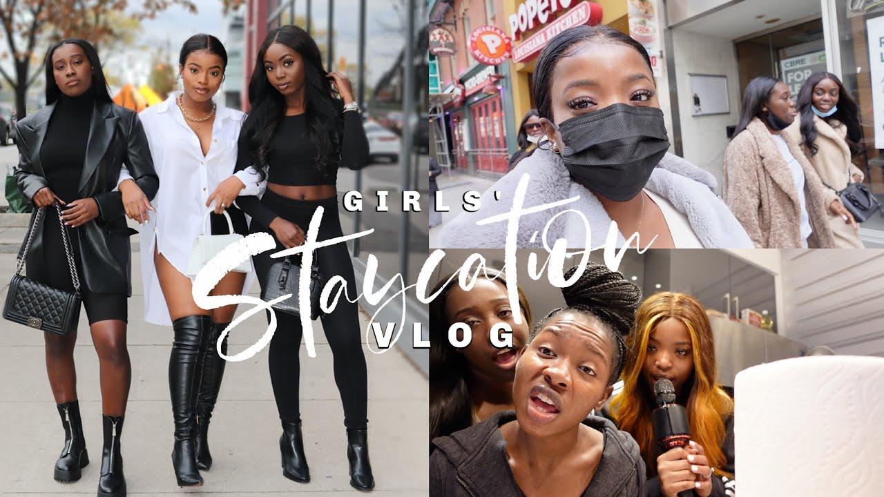 Girls' Staycation VLOG: Weekend in Toronto, Karaoke Night, Paint & Sip etc