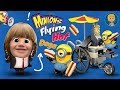 Minions Flying Hot Dogs ToysReview   Minion Funny videos driving HotDogs Car Toy Review