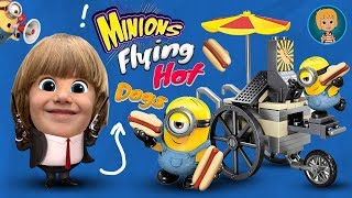 Minions Flying Hot Dogs ToysReview - Minion Funny videos driving HotDogs Car Toy Review