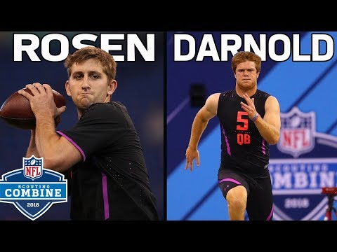 Josh Rosen & Sam Darnold Show Off Their Skills During Workouts! | NFL Combine Workouts