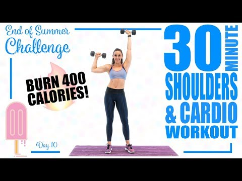 30 Minute Shoulders and Cardio Workout 🔥Burn 400 Calories! 🔥